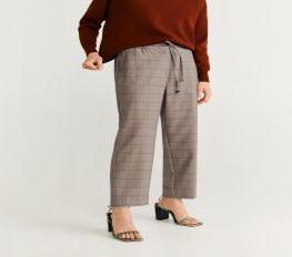 Quần Nữ Mango Drawstring Waist Straight Pants Brown