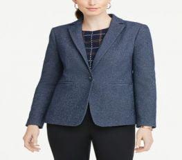 Áo Khoác Nữ Ann Taylor Textured Blazer - Industrial Navy