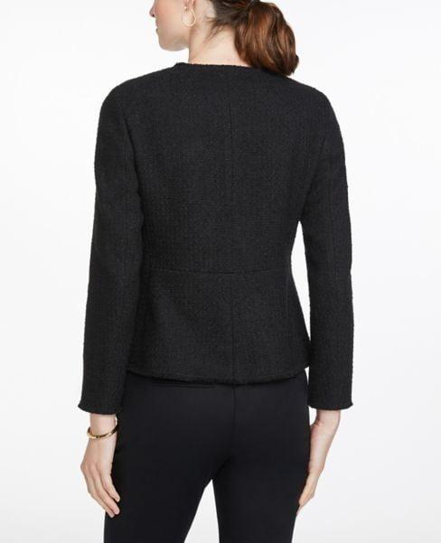 Áo Khoác Nữ Ann Taylor Jeweled Button Tweed Jacket - Black