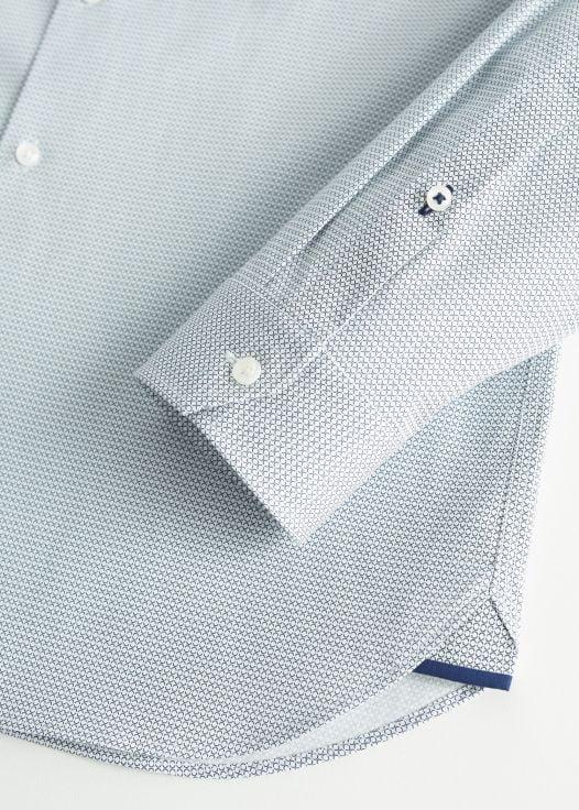 Áo Sơ Mi Nam Mango Tailored Super Slim Fit Cotton Shirt Blue