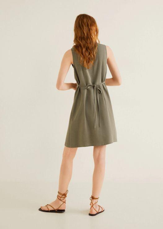 Đầm Nữ Mango Short Shirt Dress Khaki