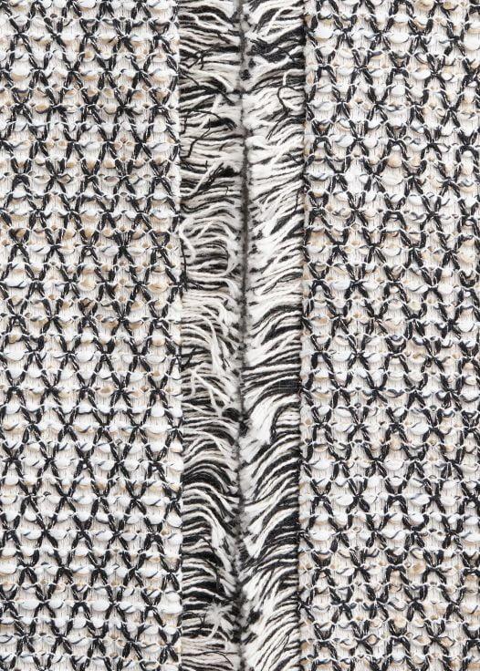 Áo Khoác Nữ Mango Metallic Thread Tweed Jacket Off White