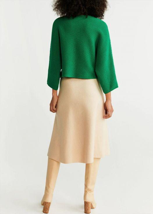 Áo Nỉ Nữ Mango Dolman Sleeve Sweater Billiard Green