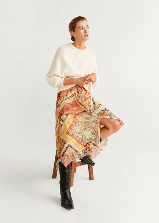 Áo Nỉ Nữ Mango Open Knit Sweater Ecru v1
