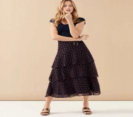 Váy Nữ Ann Taylor Bandana Floral Tiered Maxi Skirt Regular