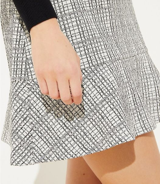 Váy Nữ Loft Petite Geo Flippy Skirt - Whisper White