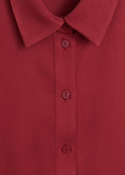 Đầm Nữ Mango Belt Shirt Dress Maroon