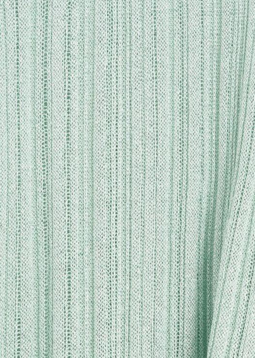 Áo Thun Nữ Mango Metallic Thread T-Shirt Green