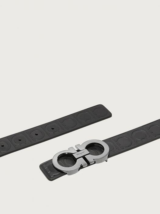 Thắt Lưng Nam Salvatore Ferragamo Sized Gancini Belt Black