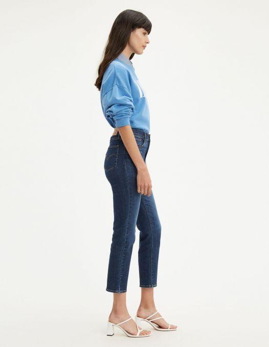 Quần Jean Nữ Levi's 724 High Rise Straight Crop Women'S Jeans Carbon Dust Dark Wash