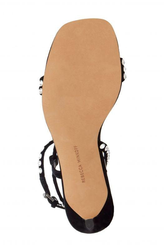 Sandal Nữ Rebecca Minkoff Nanine Crystal Embellished Sandal Black