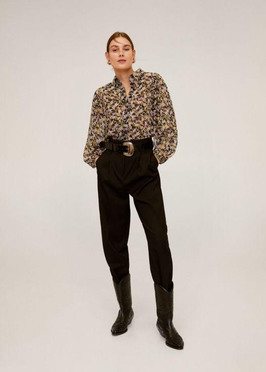 Áo Thun Nữ Mango Puff Sleeves Blouse Khaki