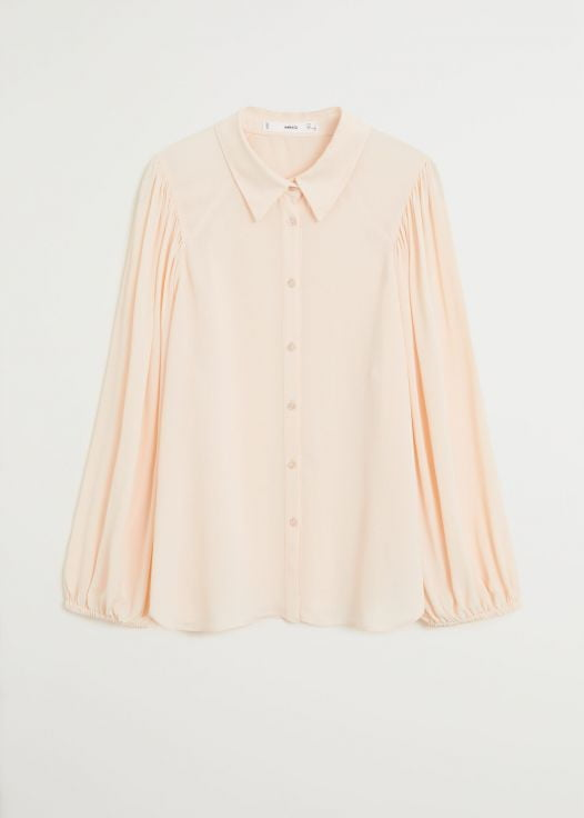 Áo Thun Nữ Mango Puff Sleeves Blouse Light Pink
