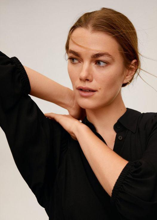 Áo Thun Nữ Mango Puff Sleeves Blouse Black