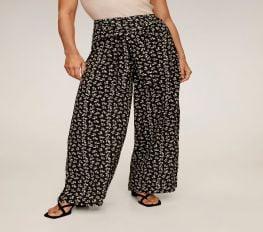 Quần Thun Dài Nữ Mango Delhi Flowy Printed Pants