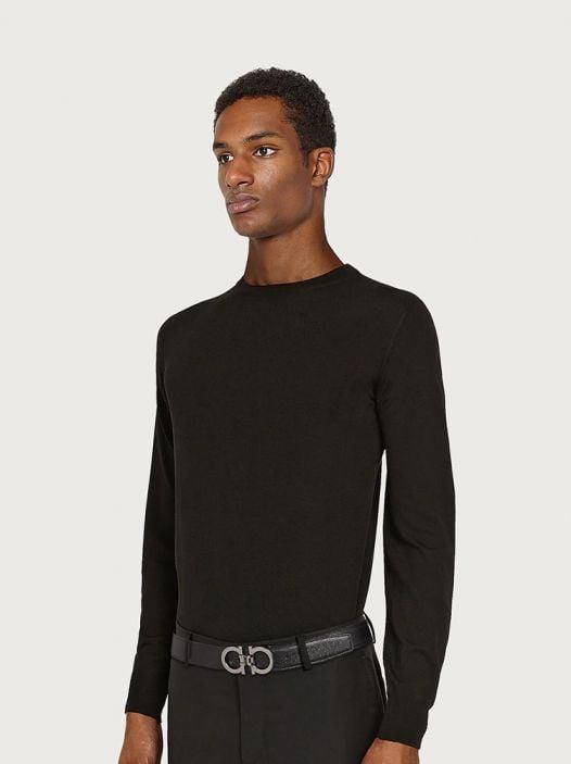 Thắt Lưng Nam Salvatore Ferragamo Reversible And Adjustable Gancini Belt Black Radica