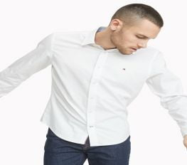 Áo Sơ Mi Nam Tommy Hilfiger Custom Fit Essential Stretch Shirt Bright White