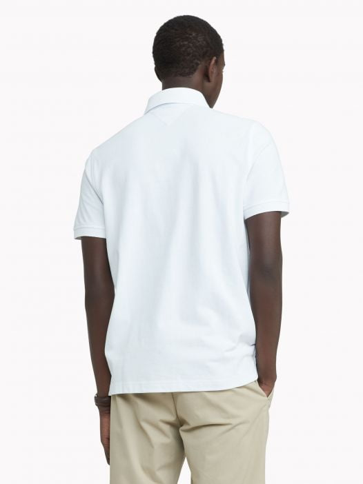 Áo Polo Nam Tommy Hilfiger Custom Fit Essential Hilfiger Polo Bright White
