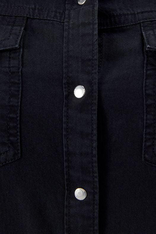 Áo Sơ Mi Nữ Zara Denim Black