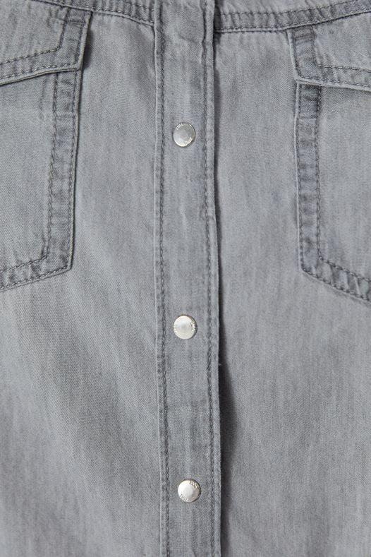 Áo Sơ Mi Nữ Zara Denim Grey