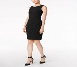 Đầm Nữ Calvin Klein Sunburst Sheath Dress Regular & Petite Sizes Black