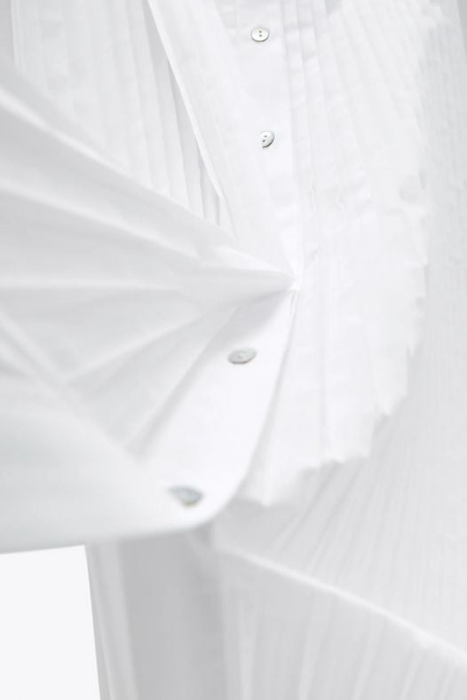 Đầm Nữ Zara Poplin Shirt Dress Oyster White