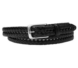 Thắt Lưng Nam Fossil Maddox Braided Leather Belt Black