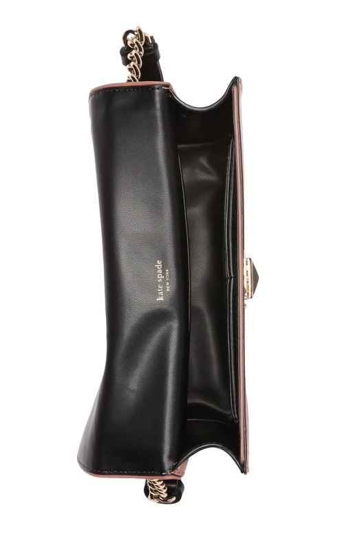 Túi Xách Nữ Kate Spade New York Neve Leather Two Tone Medium Shoulder Bag RCHK BLK S