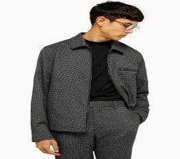 Áo Khoác Nam TopMan Classic Fit Zip Jacket Black