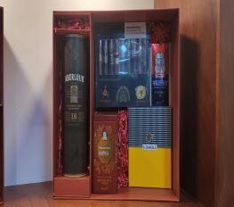 Set Quà Tết Rượu Whisky Aberlour 18 Kèm Cigar Cao Cấp