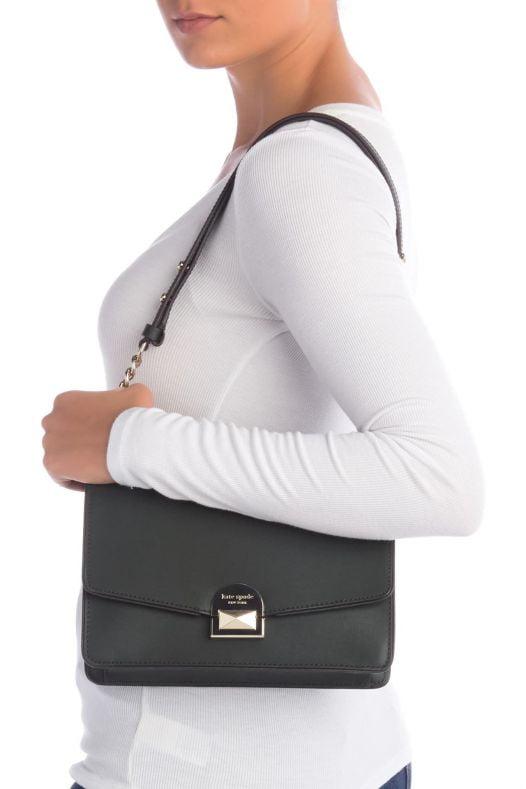 Túi Xách Nữ Kate Spade New York - Rima Leather Shoulder Bag - Spruce