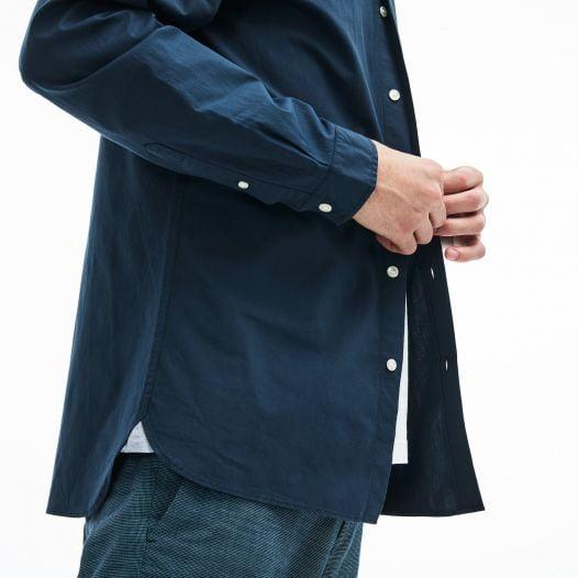 Áo Sơ Mi Nam Lacoste Slim Fit Stretch Cotton Poplin Navy Blue