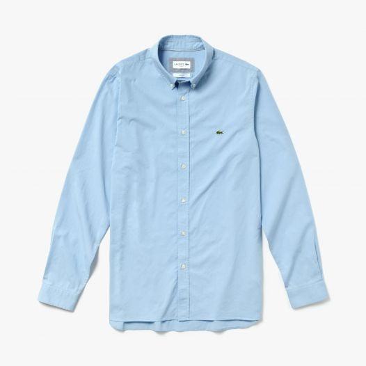 Áo Sơ Mi Nam Lacoste Slim Fit Stretch Cotton Poplin Light Blue