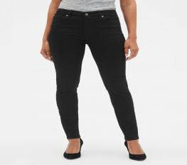 Quần Jean Nữ Gap Mid Rise Legging Jeans Black Denim