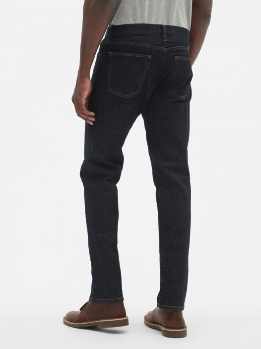 Quần Jean Nam Gap Straight Fit Jeans With GapFlex Resin Rinse