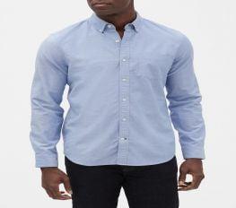 Áo Sơ Mi Nam Gap Oxford Shirt in Slim Fit Light Blue
