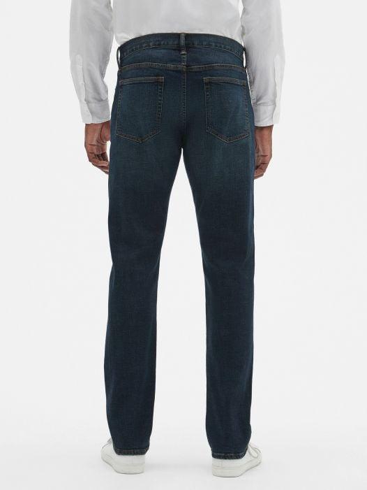 Quần Jean Nam Gap Slim Fit Jeans with GapFlex Medium Dark Tint