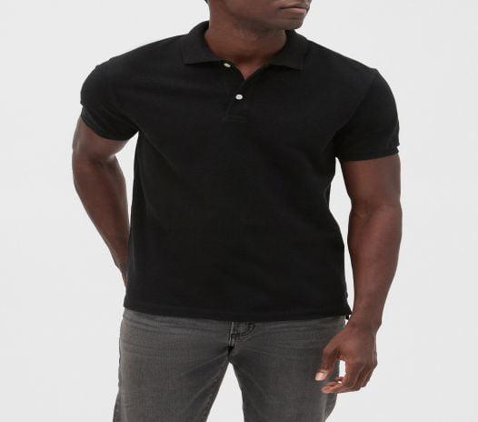 Áo Polo Nam Gap Short Sleeve Pique Polo True Black
