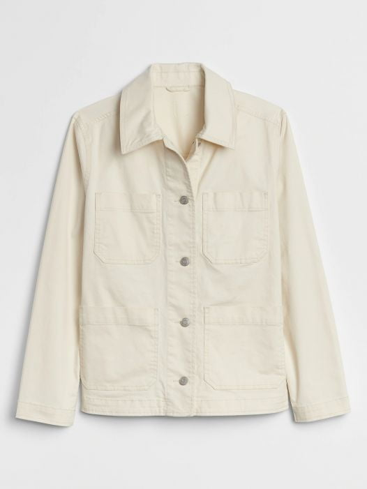 Áo Khoác Nữ Gap Chore Jacket French Vanilla Cream