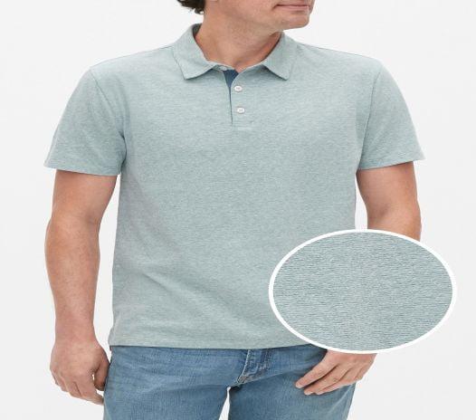 Áo Polo Nam Gap Jersey Polo Shirt Jade Stone