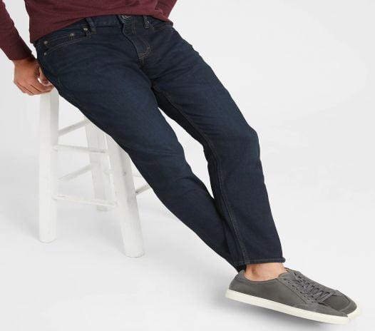 Quần Jean Nam Banana Republic Skinny-Fit Stretch Dark Rinse Wash Everyday Jean Rinse