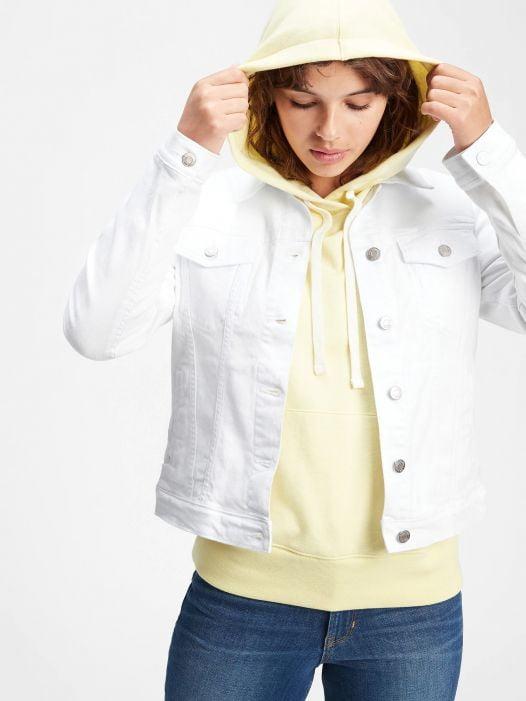 Áo Khoác Nữ Gap Icon Denim Jacket Optic White