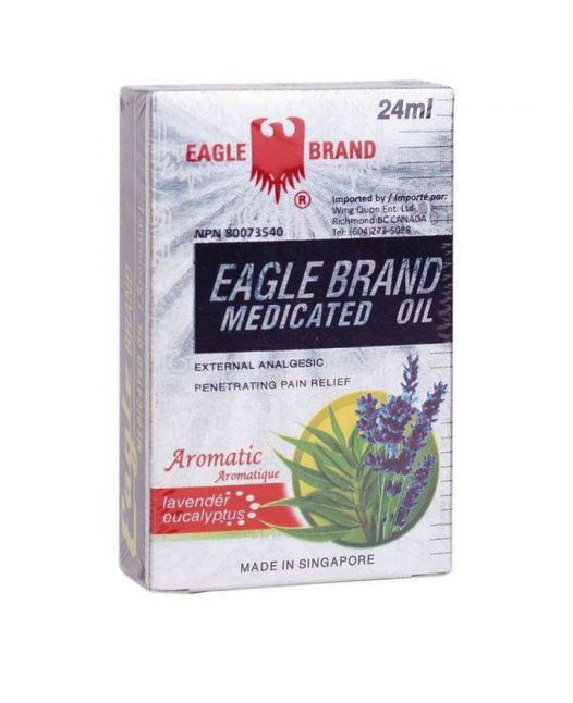 Dầu Gió Trắng Con Ó Mỹ Eagle Brand Medicated Oil - 24ml