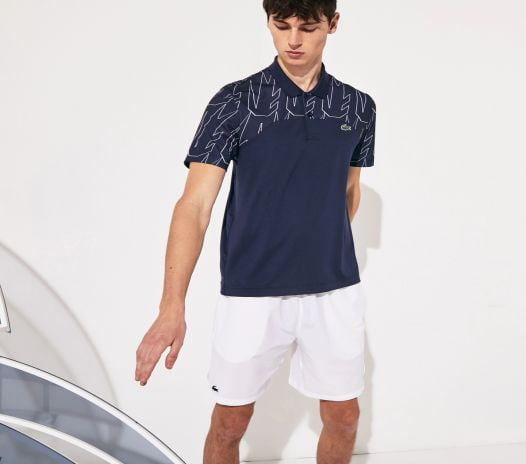 Áo Polo Nam Lacoste Men's Sport Novak Djokovic Breathable Ultra-Light Polo Shirt Navy Blue White
