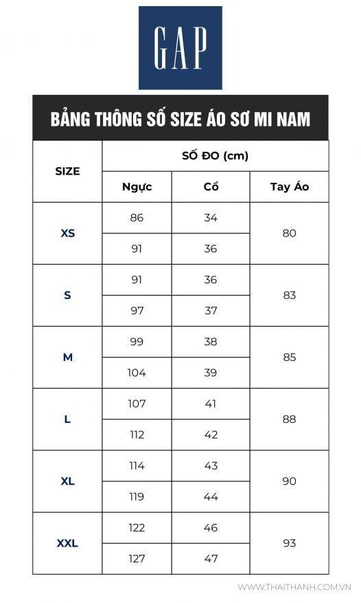 Áo Sơ Mi Nam Gap Stretch Poplin Shirt Navy Check Global