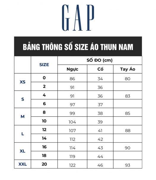 Áo Thun Nam Gap Everyday Crewneck Tee Tapestry Navy