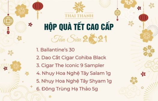 Set Quà Tết Ballantine's 30 Kèm Cigar Sampler Số 3