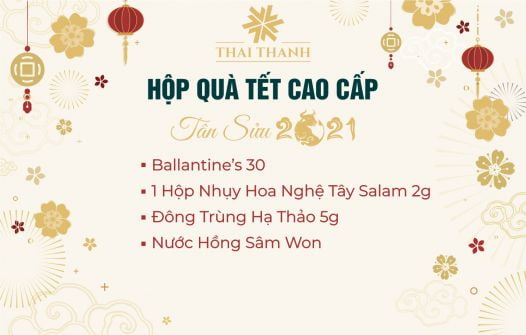 Set Quà Tết Ballantine's 30 Kèm Saffron Số 9