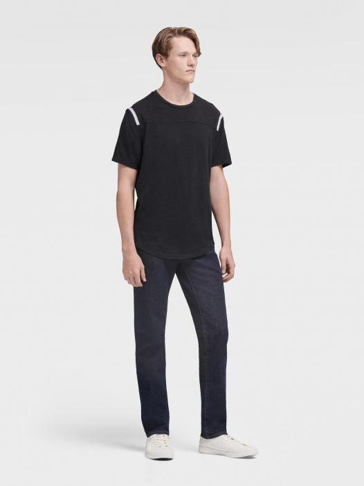 Áo Thun Nam DKNY Shoulder Stripe Tee With Curved Hem Black