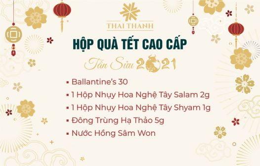 Set Quà Tết Ballantine's 30 Kèm Saffron Số 11